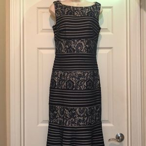 Like new Sangria Dark Navy Evening Gown  Size 6